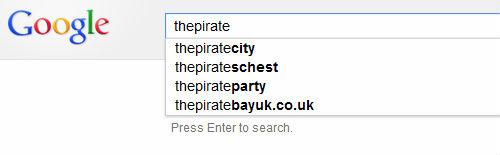 Google начала блокировать названия сайтов The Pirate Bay в сервисах автоподстановки и мгновенного поиска