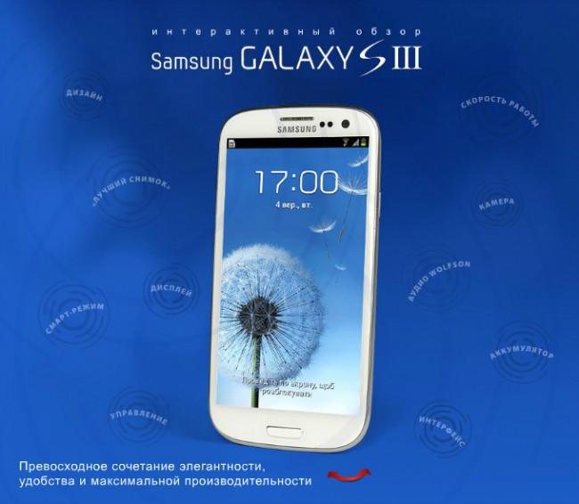 Интерактивный обзор Samsung Galaxy S3