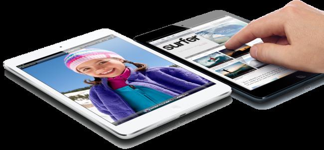 Apple iPad mini: 7.9-дюймовый планшет с IPS-экраном (1024 на 768 точек) по цене от $329