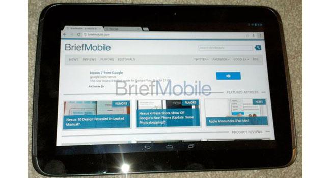 Стали известны характеристики планшета Google Nexus 10