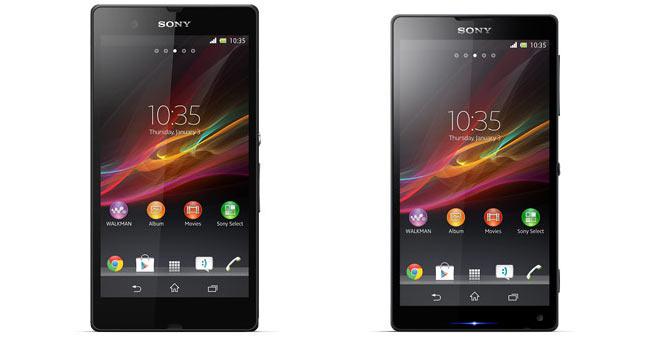 Появились первые официальные изображения Full HD смартфонов Xperia Z и Xperia ZL