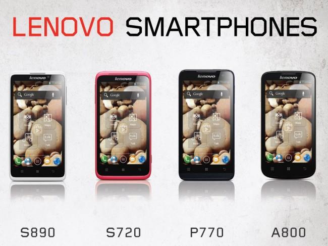 Пять DualSIM-смартфонов от Lenovo