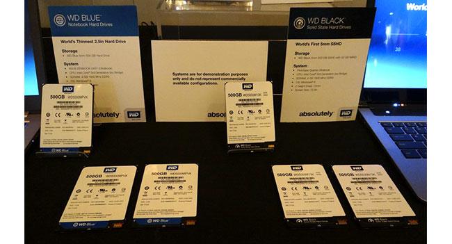 Western Digital показала тонкие HDD и гибридные SSHD