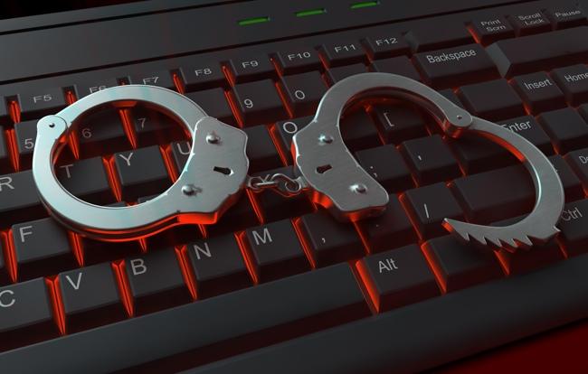 Internet crime illustration