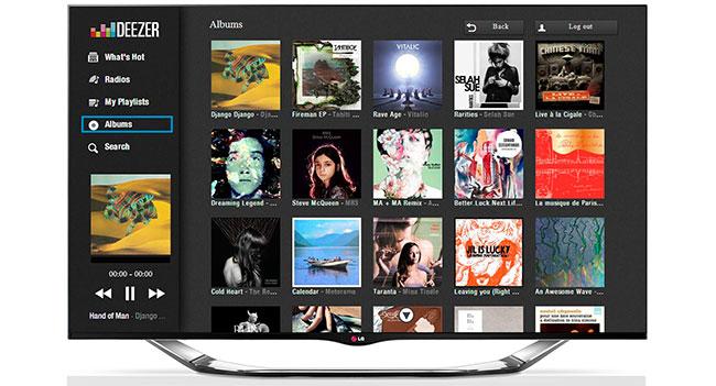 На телевизорах LG Smart TV стал доступен сервис Deezer