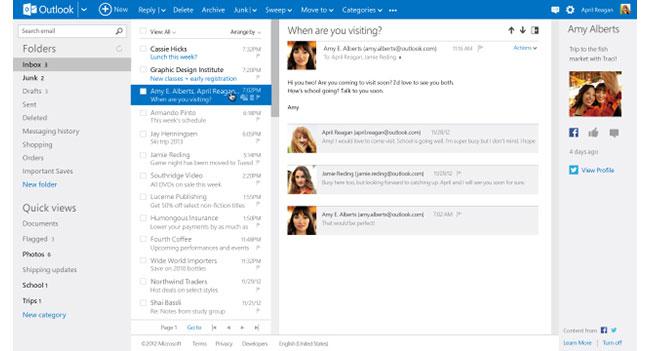 По случаю выхода Outlook.com из статуса предварительной версии Microsoft запускает рекламную кампанию сервиса