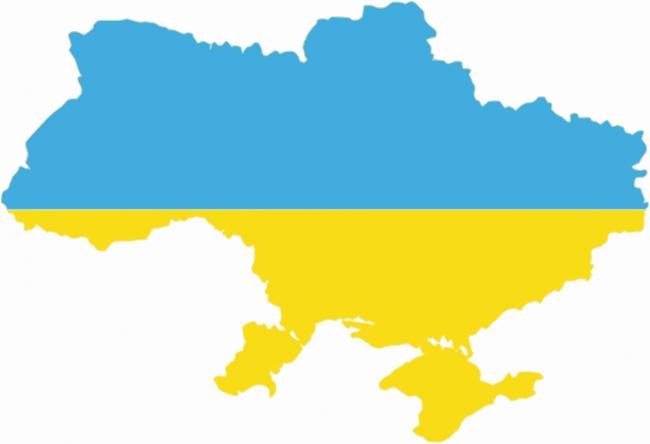 Ukraine-flag-map