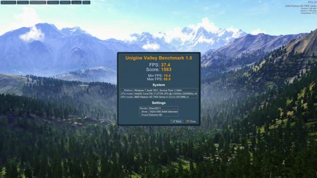 Valley_Benchmark_result