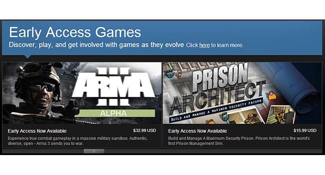 В Steam запущена программа раннего доступа к играм - Early Access