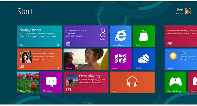 Microsoft снизила ограничение минимального разрешения изображения для планшетов с Windows 8