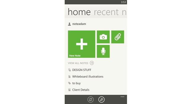 В Evernote для Windows Phone улучшен интерфейс и добавлены новые функции