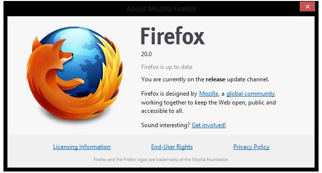 Mozilla выпустила браузер Firefox 20