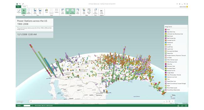 В Excel появилась функция создания 3D карт с графическими данными