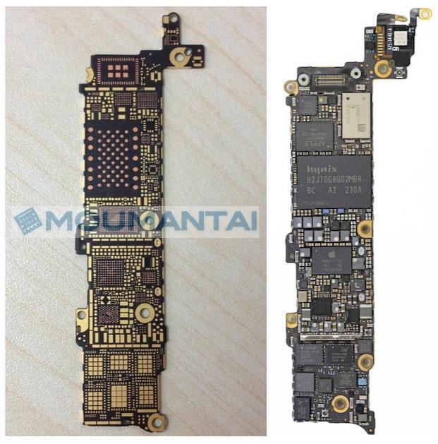 В Сети появились фотографии материнской платы Apple iPhone 5S