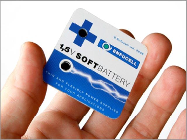 Гибкая батарея из целлюлозы SoftBattery