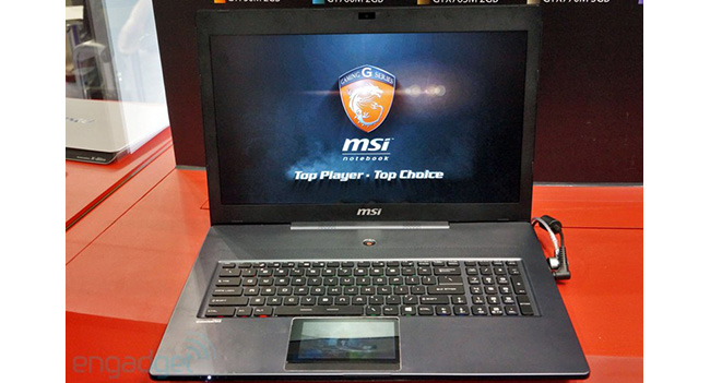 MSI показала прототип игрового ноутбука с дисплеем-тачпадом