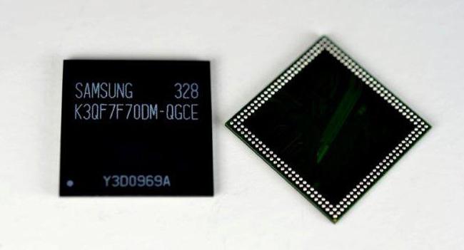 Samsung начала производство чипов памяти LPDDR3 емкостью 3 ГБ для мобильных устройств