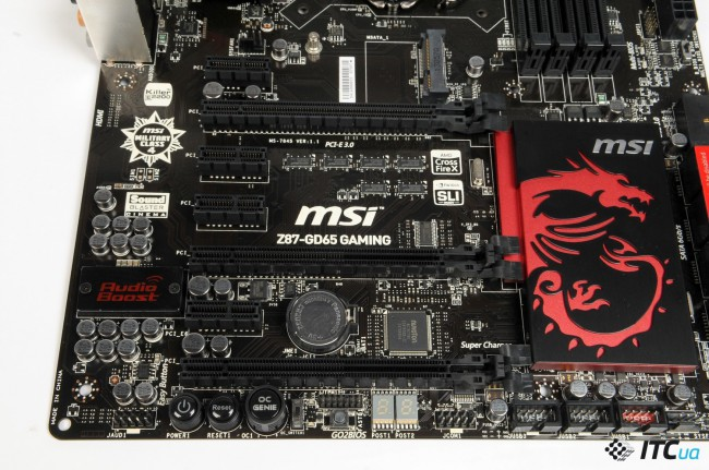 msi z87 gd65 gaming характеристики слоты