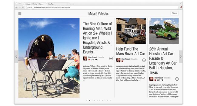 Запущена веб-версия сервиса Flipboard