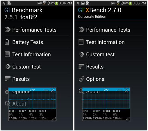Некоторые мобильные устройства Samsung автоматически повышают частоту при запуске тестовых приложений