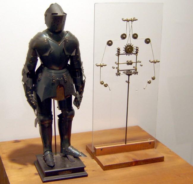Роботизированный рыцарь Леонардо да Винчи (XV век)