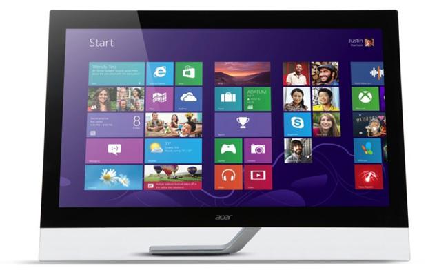 Acer представила три крупноформатных компьютерных монитора