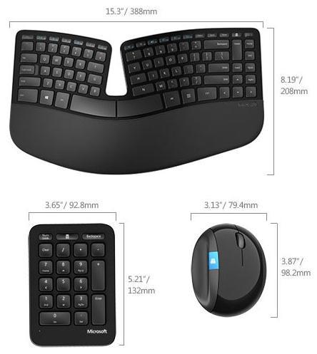 Microsoft выпустила эргономичные беспроводные клавиатуру и мышь Sculpt Ergonomic