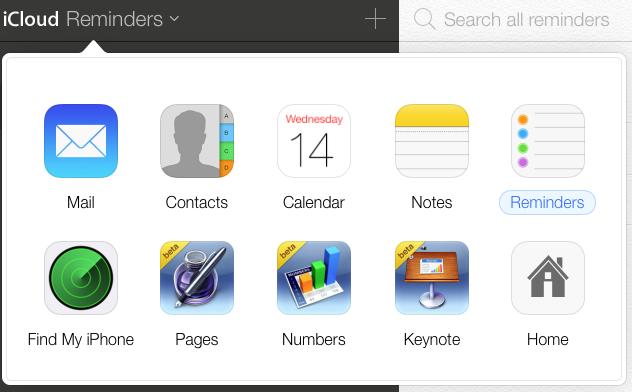 Бета-версия iCloud.com получила дизайн в стиле iOS 7