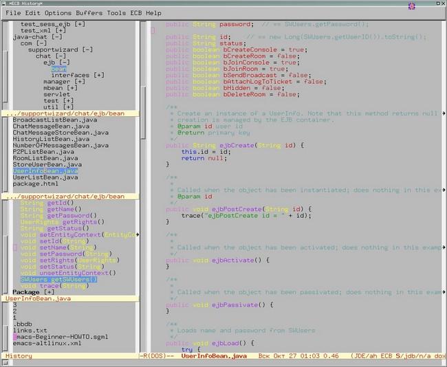 Текстовый редактор Emacs