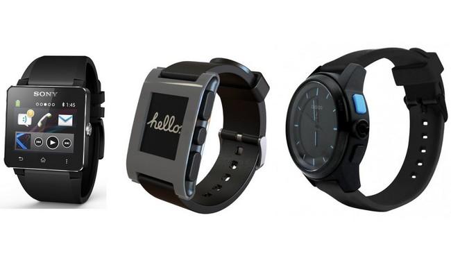 Модели Sony SmartWatch 2, Pebble E-Paper Watch и Cookoo