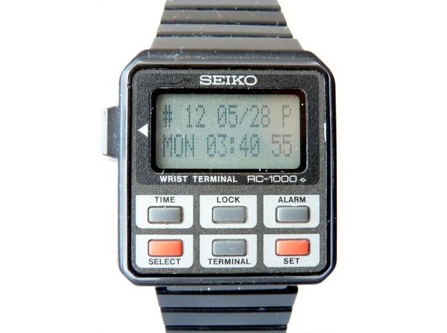 Seiko RC-1000 Wrist Terminal – наручные часы и по совместительству терминал удаленного доступа к ПК (1984 год)