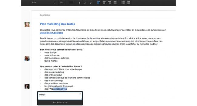 В Box появится функция работы с документами - Box Notes