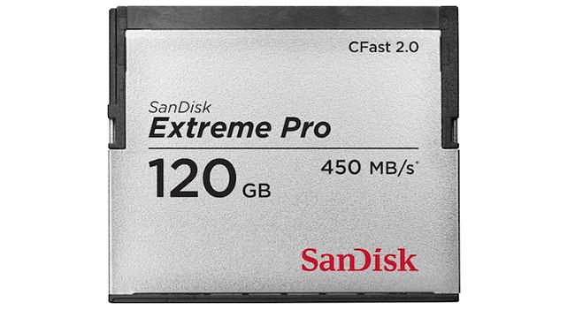 SanDisk Extreme Pro CFast 2.0 - самая высокоскоростная карта памяти в мире
