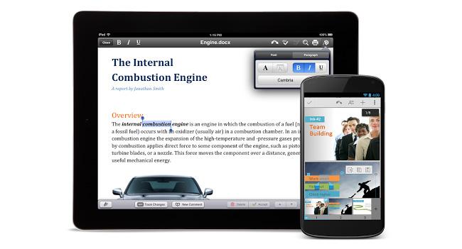 Пользователям Android и iOS бесплатно предоставляется приложение Quickoffice и 10 ГБ в сервисе Google Drive