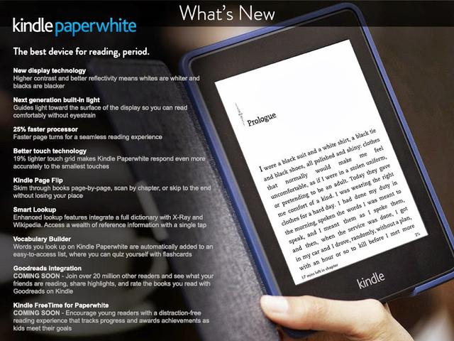 Новый ридер Amazon Kindle Paperwhite случайно засветился на сайте компании