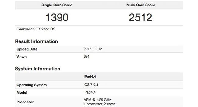 Планшет iPad mini с дисплеем Retina обладает значительно возросшей производительностью по сравнению с предыдущим iPad mini