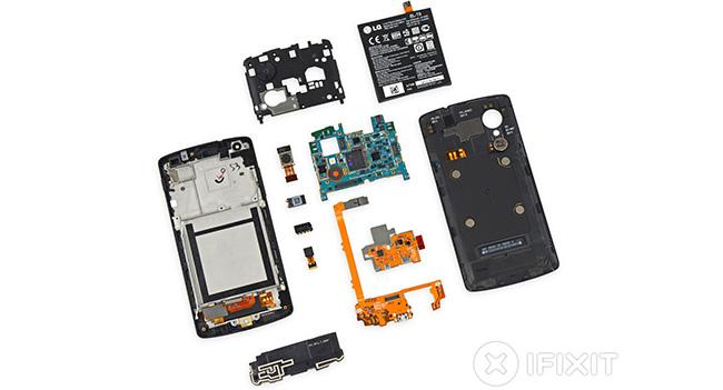 iFixit: Смартфон Nexus 5 достаточно легко поддается ремонту
