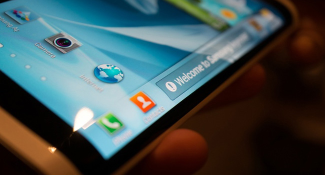 Samsung plans to release a smartphone with a curved tri ...