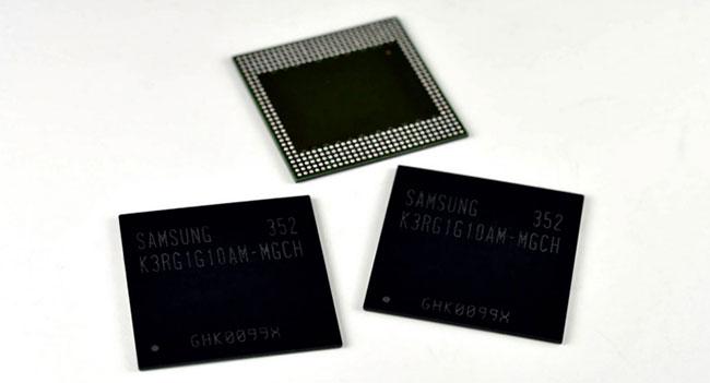 Samsung создала чип памяти LPDDR4 DRAM с рекордной емкостью 8 Гб