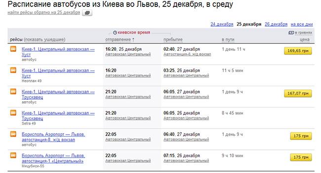 В сервис «Яндекс.Расписания» добавлено 60 автовокзалов и автостанций Украины