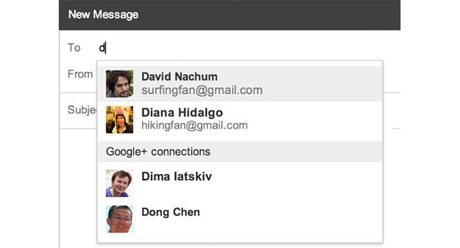 Из Gmail теперь можно отправлять письма пользователям Google+