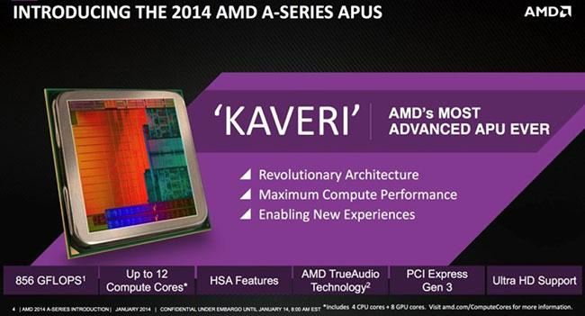 AMD приступает к продажам процессоров Kaveri