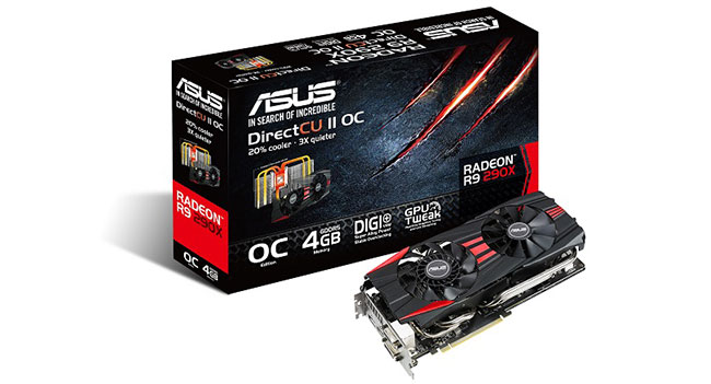 ASUS представила видеокарты R9 290X DirectCU II и R9 290 DirectCU II