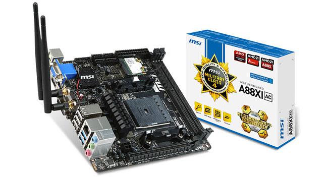 MSI анонсировала компактную материнскую плату A88XI AC