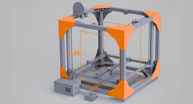 3D принтер BigRep One позволяет создавать достаточно крупные предметы
