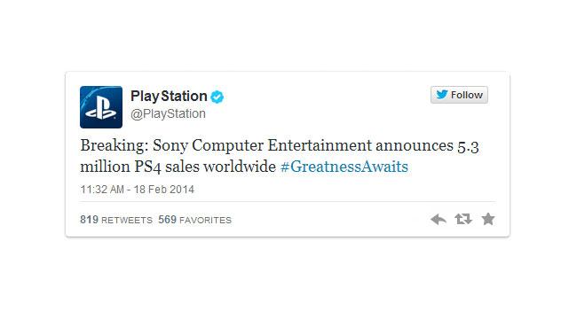 Sony продала 5,3 млн консолей PlayStation 4