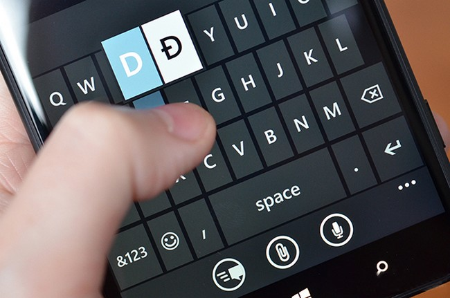 In Windows Phone 8.1 will be a new keyboard that is reminiscent of Swype