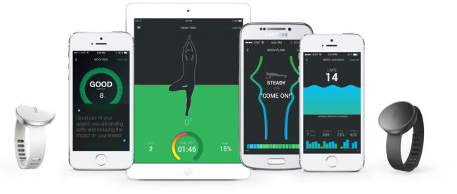 Moov - interactive fitness tracker, providing recommendations in real time