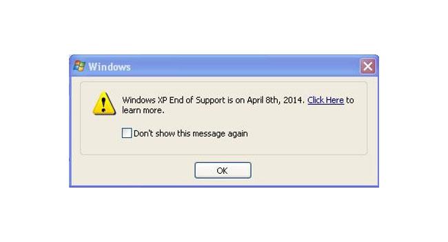 Microsoft будет уведомлять пользователей о прекращении поддержки Windows XP