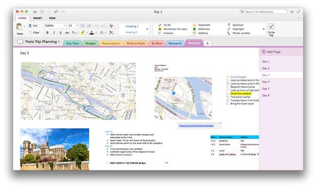 Microsoft выпустила версию OneNote для Mac